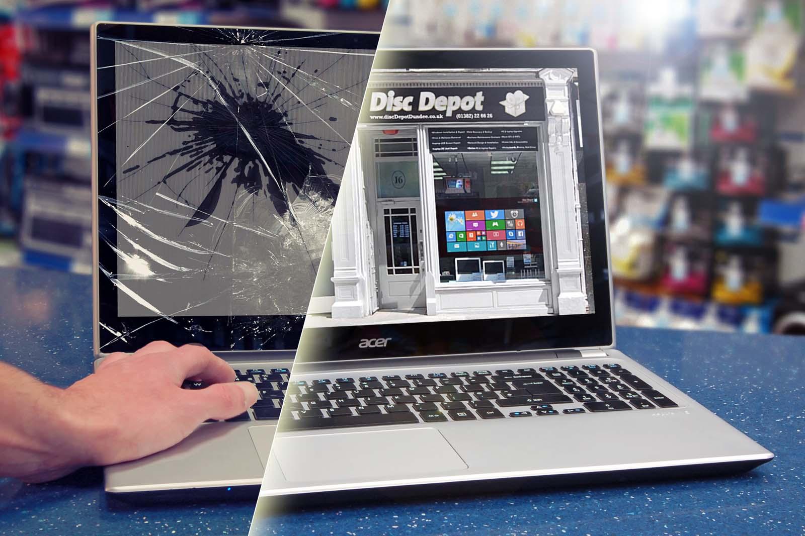 cracked screen repair cost uk