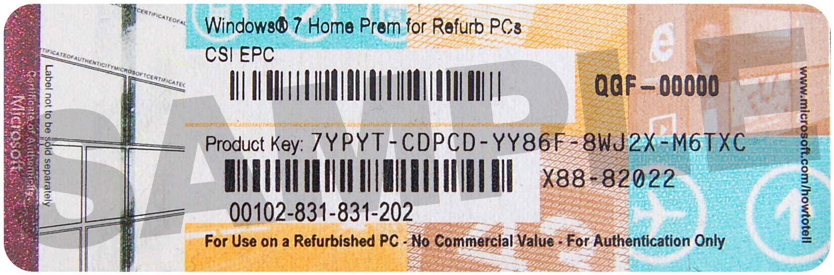 product keys for windows 7 home premium